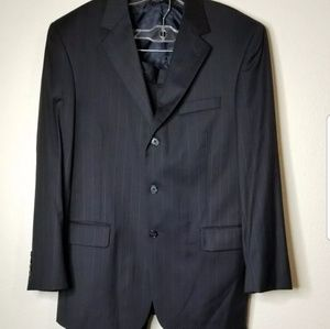 Jos A. Bank Mitchell Navy Blue Wool Pants Suit 40
